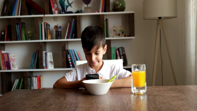 she loves cereal for breakfast, lunch and dinner - science and technology stock videos & royalty-free footage