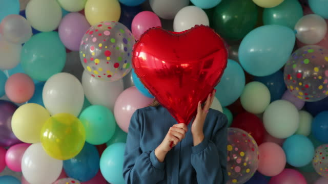 she loves valentine's day - obscured face stock videos & royalty-free footage