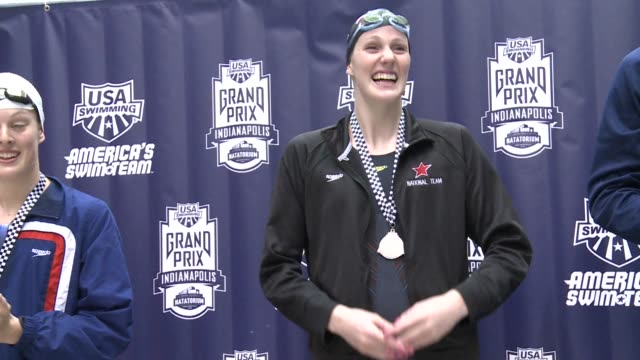 she may only be 16 and has never been to the olympics before, but swimmer missy franklin is already seeing gold. clean: us swim star missy franklin... - 2012 stock videos & royalty-free footage