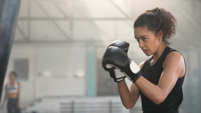 she packs some powerful punches - self defence stock videos & royalty-free footage