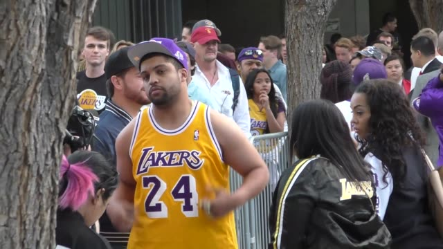 O'Shea Jackson Jr arriving to see Kobe Bryant's final game at Staples Center in Los Angeles Celebrity Sightings on April 13 2016 in Los Angeles...