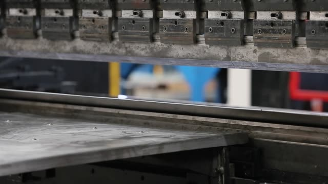 sheet metal bending in factory - aluminum sheet stock videos and b-roll footage