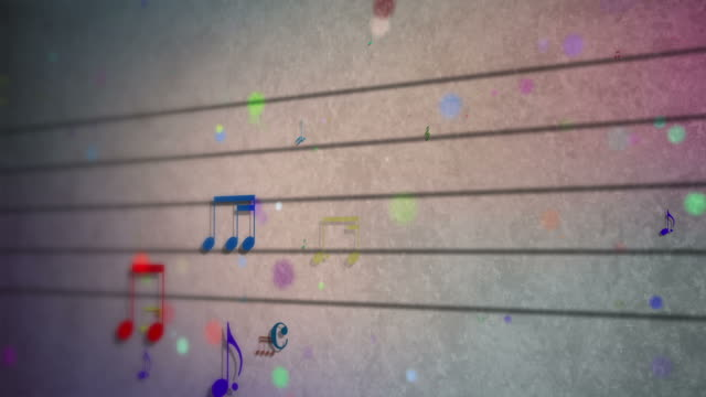 sheet music, musical notation, notes, treble clef - treble clef stock videos & royalty-free footage