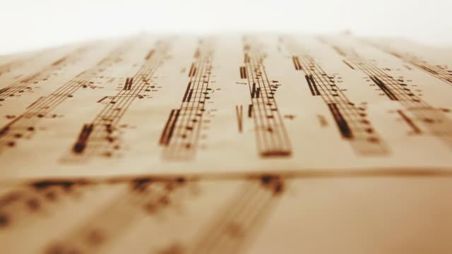 sheet music - sheet music stock videos & royalty-free footage