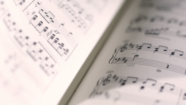 sheet music - orchestra stock videos & royalty-free footage