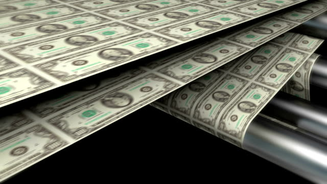 sheet of one hundred dollar bills | finance and business - money press stock videos and b-roll footage