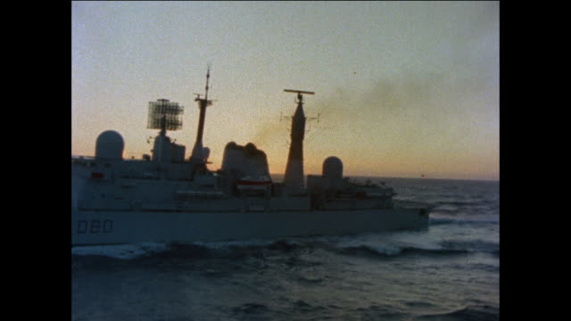 1976 HMS Sheffield arriving in Gibraltar