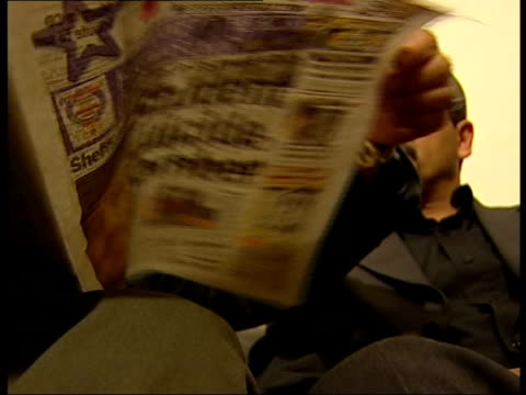 sheffield int hussein saleh mohamed alafif looking through paper reporting on alleged suicide attack by martial arts instructor wail aldhaleai... - sheffield stock videos and b-roll footage