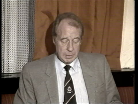 manhunt for Arthur Hutchinson continues Assistant Chief Constable Bob Goslin press conference SOF Various of police workers at desks in police...