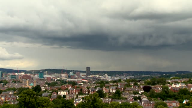 sheffield skyline - sheffield stock videos & royalty-free footage