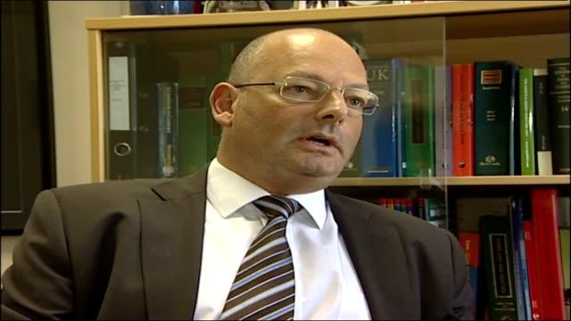 sheffield united to sue west ham over carlos tevez affair england london int richard cramer interview sot - ウェストハム・ユナイテッドfc点の映像素材/bロール