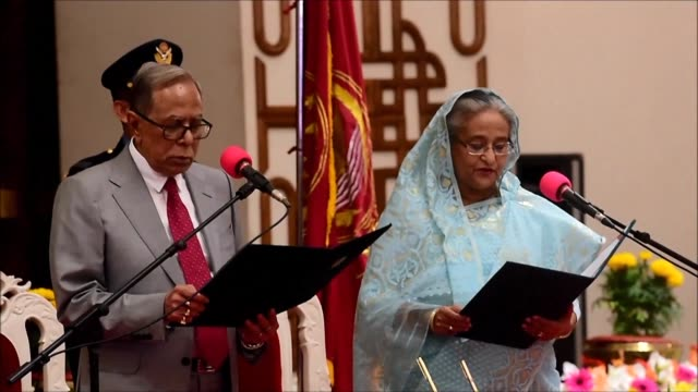 sheikh hasina is sworn in as bangladesh's prime minister for a record fourth term after a crushing election victory marred by deadly violence and... - rigging stock videos & royalty-free footage