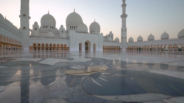 sheikh zayed bin sultan al nahyan mosque, abu dhabi, united arab emirates, uae - mosque stock videos & royalty-free footage