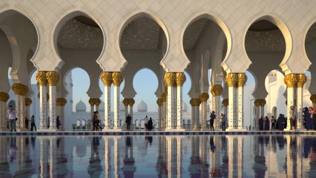 sheikh zayed bin sultan al nahyan mosque, abu dhabi, united arab emirates, uae - sultan stock videos and b-roll footage
