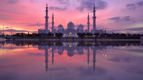 sheikh zayed bin sultan al nahyan mosque, abu dhabi, united arab emirates, uae - mosque stock videos & royalty-free footage