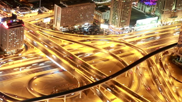 sheikh zayed road - fast motion time lapse stock videos & royalty-free footage