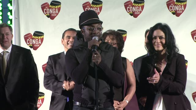 vídeos de stock, filmes e b-roll de sheila e and william on the opening of the conga room at the conga room grand opening at los angeles ca - sheila e