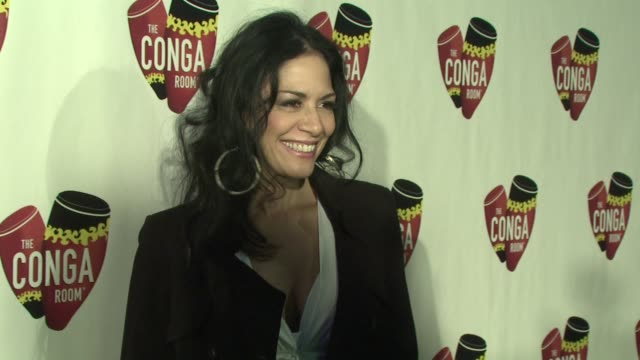 vídeos de stock, filmes e b-roll de sheila e at the conga room grand opening at los angeles ca - sheila e