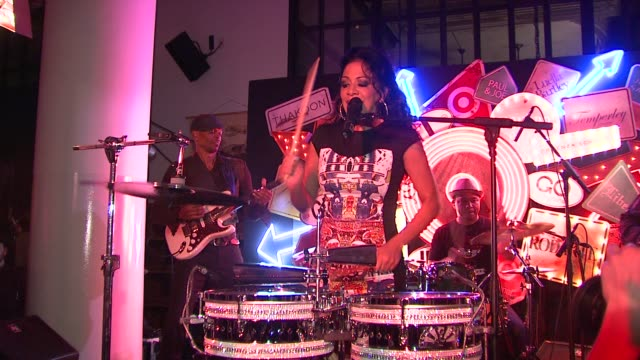 vídeos de stock, filmes e b-roll de sheila e at the target's go international designer collective launch at new york ny - sheila e
