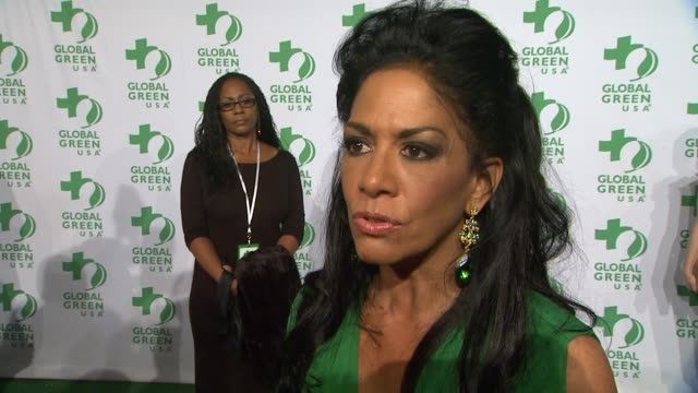 vídeos de stock, filmes e b-roll de sheila e on why she supports global green what she does daily to live a greener life and what to expect from her performance at global green usa's... - sheila e