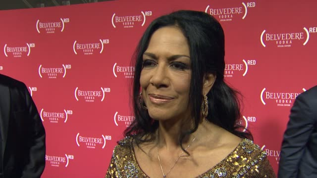 vídeos de stock, filmes e b-roll de sheila e on why she wanted to come support red at red special edition party with exclusive performance by mary j blige on 2/10/2012 in hollywood ca - sheila e