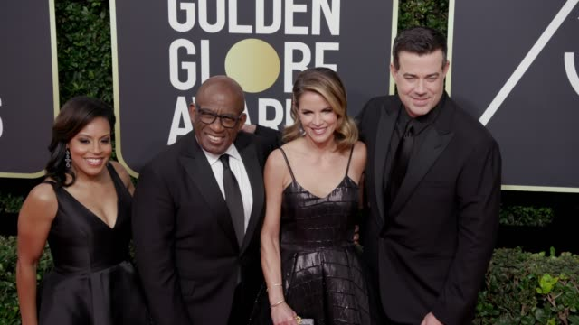 sheinelle jones, al roker, natalie morales, and carson daly at the 75th annual golden globe awards at the beverly hilton hotel on january 07, 2018 in... - sheinelle jones stock videos & royalty-free footage