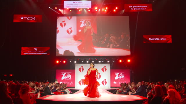 sheinelle jones at the the american heart association's go red for women red dress collection 2019 at hammerstein ballroom on february 07, 2019 in... - sheinelle jones stock videos & royalty-free footage