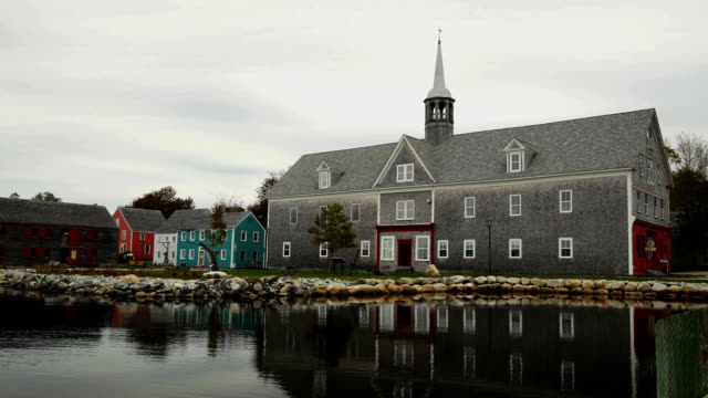 shelburne, nova scotia waterfront - colonial stock videos & royalty-free footage