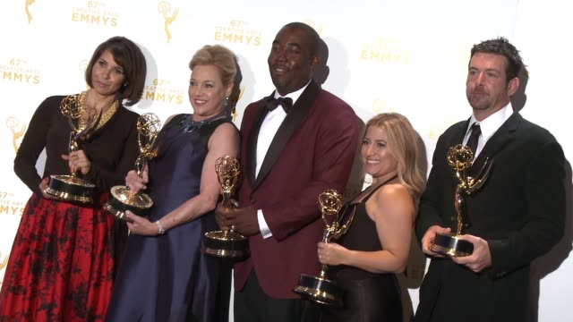 Shelby Stone Lili Fini Zanuck Shakim Compere Randi Michel and Ron Schmidt at the 2015 Creative Arts Emmy Awards at Microsoft Theater on September 12...
