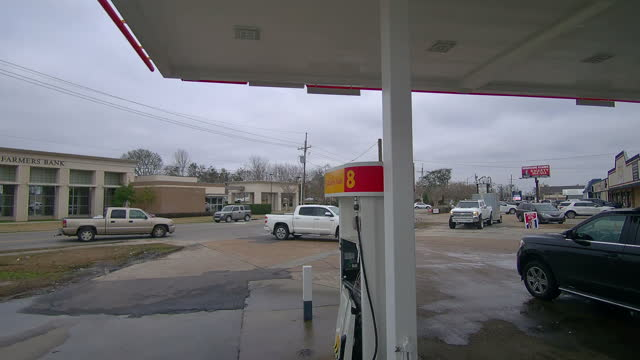 shell gas station in lake charles - fast motion stock videos & royalty-free footage