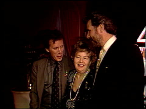 shelley winters at the 1988 awards dinner at the four seasons hotel in los angeles, california on august 23, 1988. - four seasons hotel stock videos & royalty-free footage