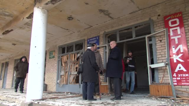 stockvideo's en b-roll-footage met shelling at a hospital in east ukraine killed four people ahead of a visit to kiev by us secretary of state john kerry that will see possible arms... - mogelijk