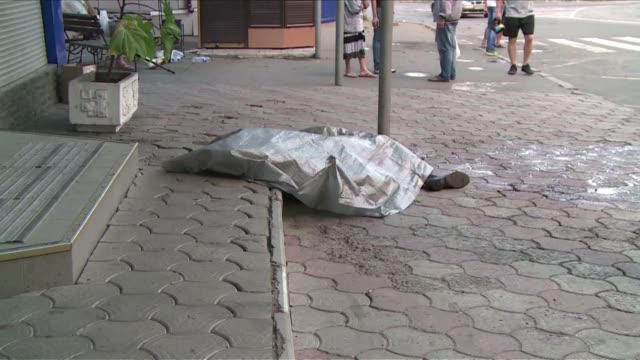 shelling in ukraines rebel controlled city donetsk has killed 15 since midday thursday local authorities said describing the situation as extremely... - midday stock videos and b-roll footage