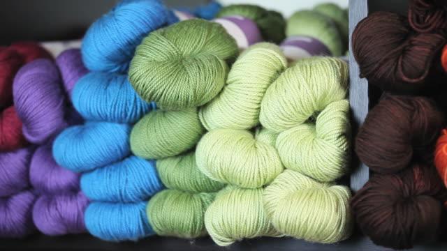 CU PAN Shelves of colored yarn / Richmond, Virginia, USA
