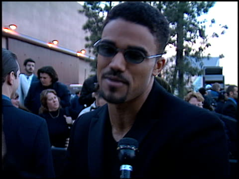 shemar moore at the soap opera digest awards entrances at universal studios in universal city, california on february 26, 1999. - soap opera stock videos & royalty-free footage