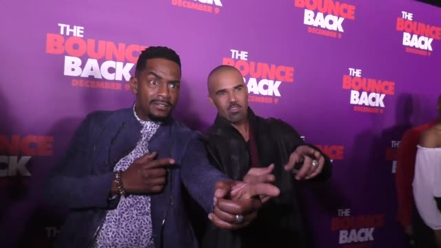 shemar moore bill bellamy at the premiere of viva pictures' 'the bounce back' on december 06 2016 in hollywood california - bill bellamy stock videos and b-roll footage