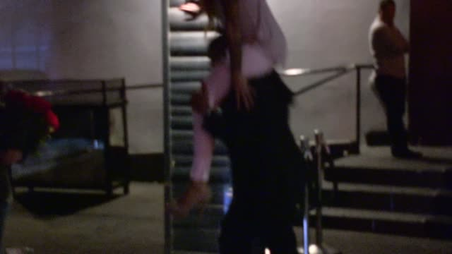shemar moore gives jade ashley a piggyback ride at greystone manor in west hollywood in celebrity sightings in los angeles - piggyback stock videos & royalty-free footage