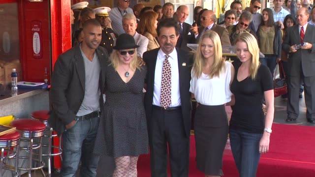 Shemar Moore Kirsten Vangsness Joe Mantegna AJ Cook and Rachel Nichols at the Joe Mantegna Honored with a Star on the Hollywood Walk of Fame at...