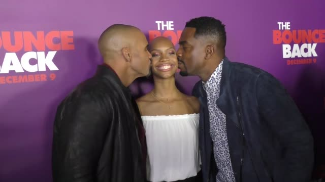 shemar moore nadja alaya bill bellamy at the premiere of viva pictures' 'the bounce back' on december 06 2016 in hollywood california - bill bellamy stock videos and b-roll footage