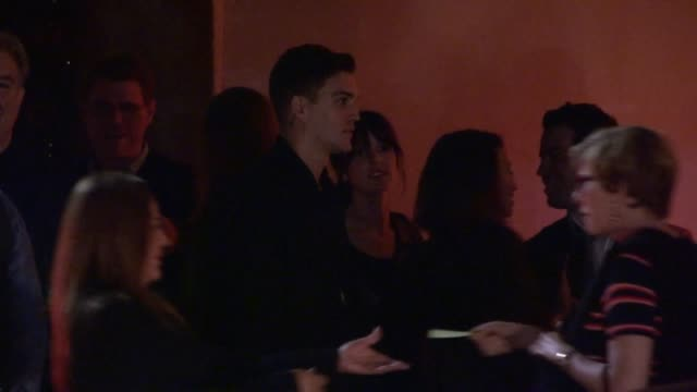 stockvideo's en b-roll-footage met shenae grimes & josh beech smoking at 2013 entertainment weekly pre emmy party in weho at celebrity sightings in los angeles shenae grimes & josh... - pre emmy party