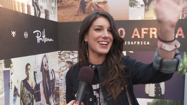 INTERVIEW Shenae Grimes on being at the event her style tonight's performance and her upcoming marriage at the DIESEL EDUN Studio Africa Event At Ron...