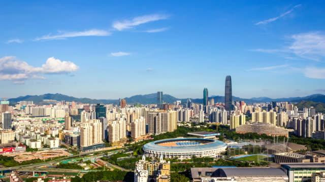 Shenzhen Geschäftsviertel Skyline / Shenzhen, China/Timelapse, 4K