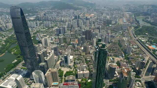 Shenzhen Stadt-Luftaufnahme