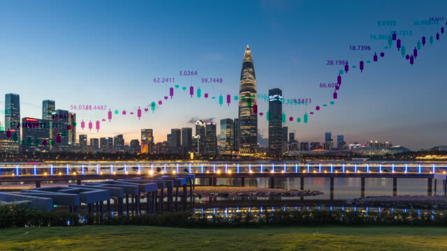 shenzhen city scenery and stock trading concept - headquarters stock videos & royalty-free footage