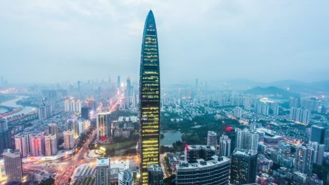 Shenzhen cityscape at night,Kingkey 100