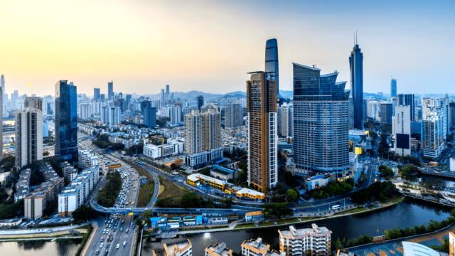 Shenzhen Finanzplatz skyline