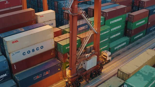 shenzhen port container - harbour stock videos & royalty-free footage