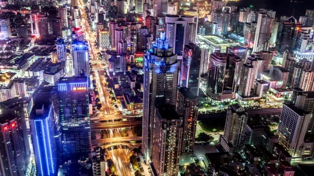 T/L WS HA PAN Shenzhen Skyline at Night / Shenzhen, China