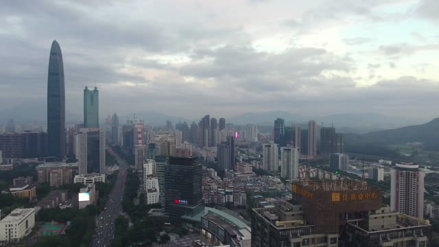 Shenzhen skyline at twilight time
