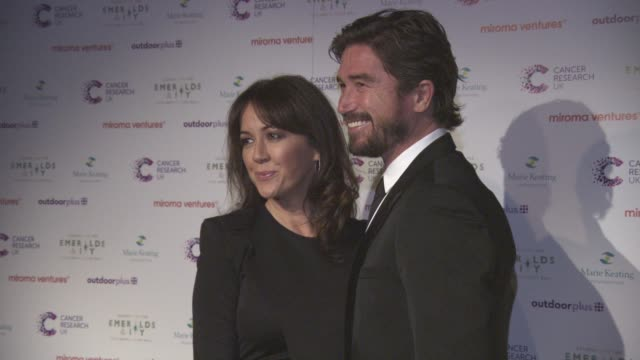 sheree murphy and harry kewell at emerald's ivy ball at emerald's ivy ball at victoria embankment gardens on december 05 2015 in london england - embankment stock videos and b-roll footage